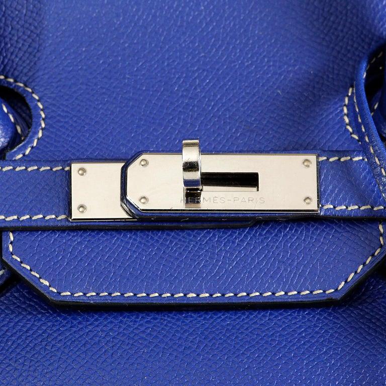 45ddb46752 Hermès Bleu Electrique Epsom 35 cm Birkin Bag with Mykonos Blue Interior For  Sale 3