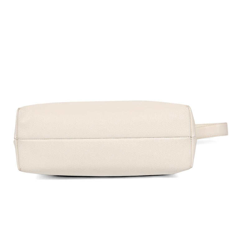 Women's Chanel White Caviar Frame Top Bag For Sale