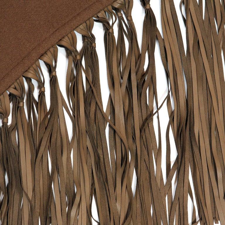 Hermès Brown Cashmere XXL Shawl For Sale 1