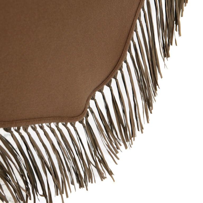 Hermès Brown Cashmere XXL Shawl For Sale 2
