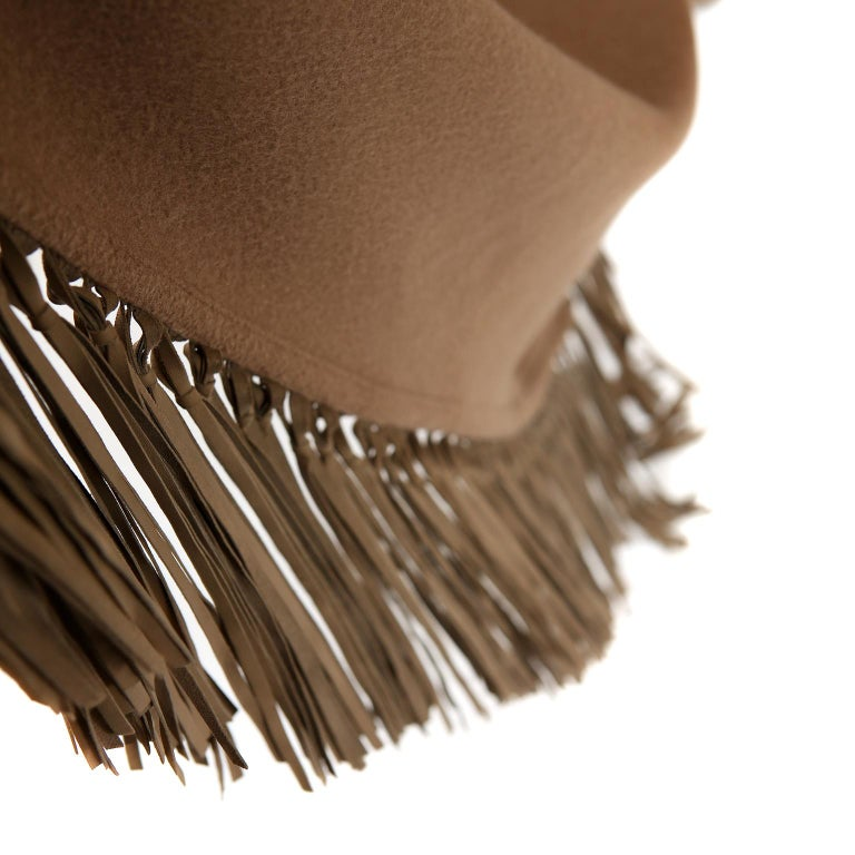 Hermès Brown Cashmere XXL Shawl For Sale 3