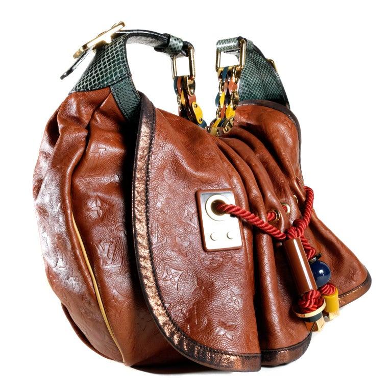 Brown Louis Vuitton Paprika Monogram Leather Kalahari GM- Limited Edition