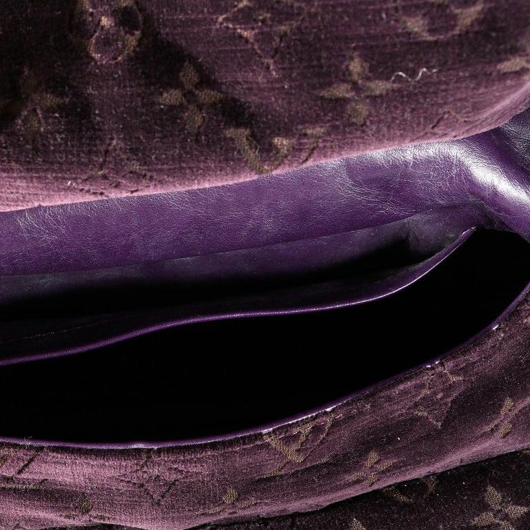 Louis Vuitton Eggplant Purple Monogram Velours Clyde Bag For Sale 5