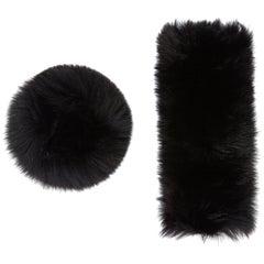 Verheyen London Snap on Fox Fur Cuffs in Black