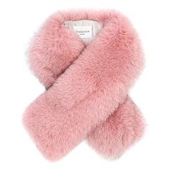 Verheyen London Lapel Cross-through Collar in Rose Petal in Fox Fur