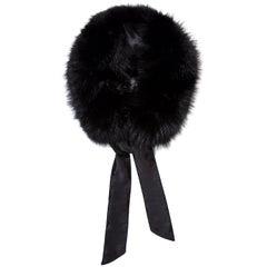 Verheyen London Circle Stand up Collar in Black Fox Fur