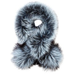 Verheyen London Lapel Cross-through Collar in Iced Topaz Fox Fur