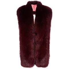 Verheyen London Legacy Stole in Garnet Fox Fur & Silk Lining