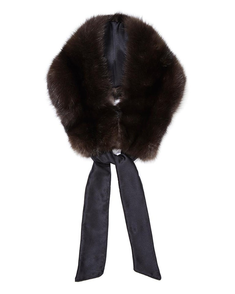 Verheyen London Circle Stand up Collar in Natural Barguzinsky Sable Fur In New Condition For Sale In London, GB