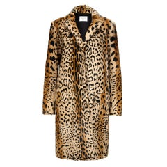 Verheyen London Leopard Print Coat in Natural Goat Hair Fur Size uk 8
