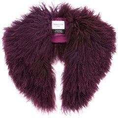 Verheyen London Shawl Collar in Garnet Mongolian Lamb Fur