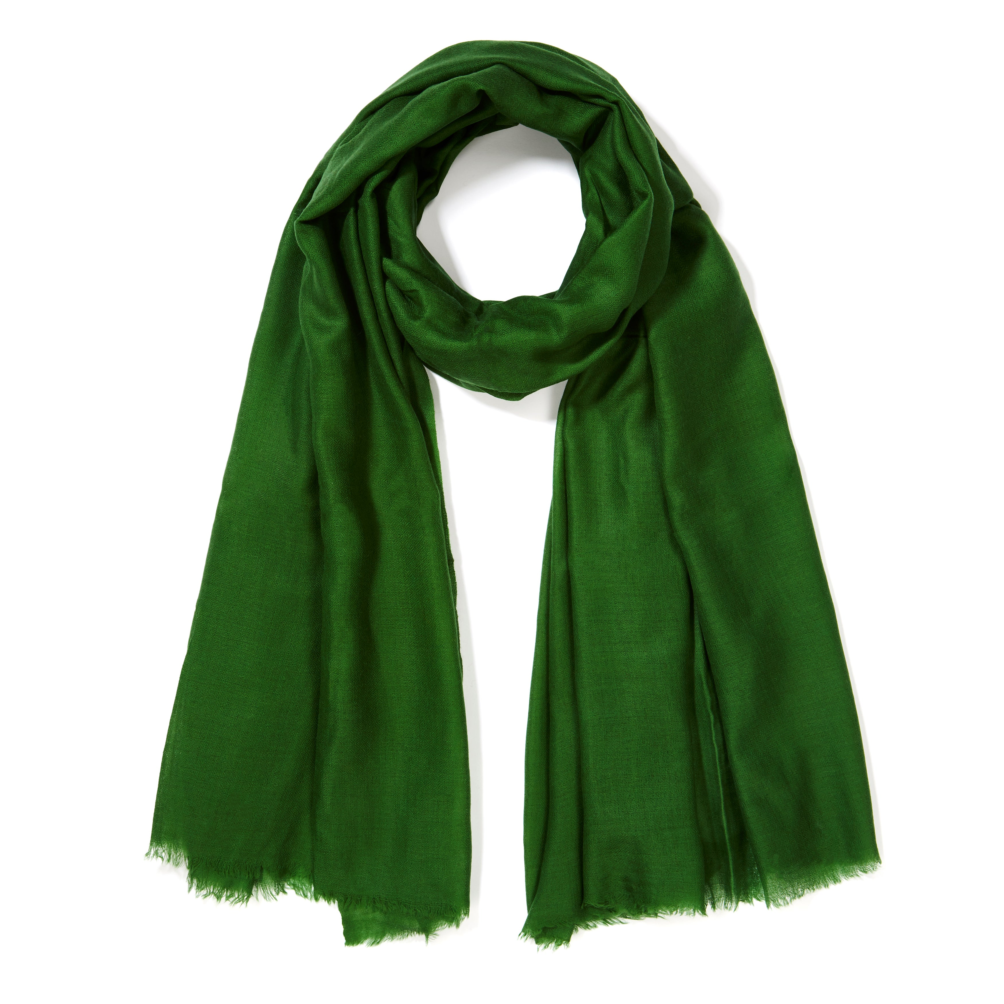 996ef79ba Lightweight 100% Cashmere Shawl in Green at 1stdibs