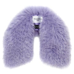 Verheyen London Peter Pan Collar in Lilac Fox Fur and lined in silk