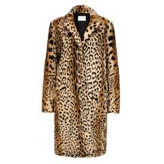Verheyen London Leopard Print Coat in Natural Goat Hair Fur Size uk 8