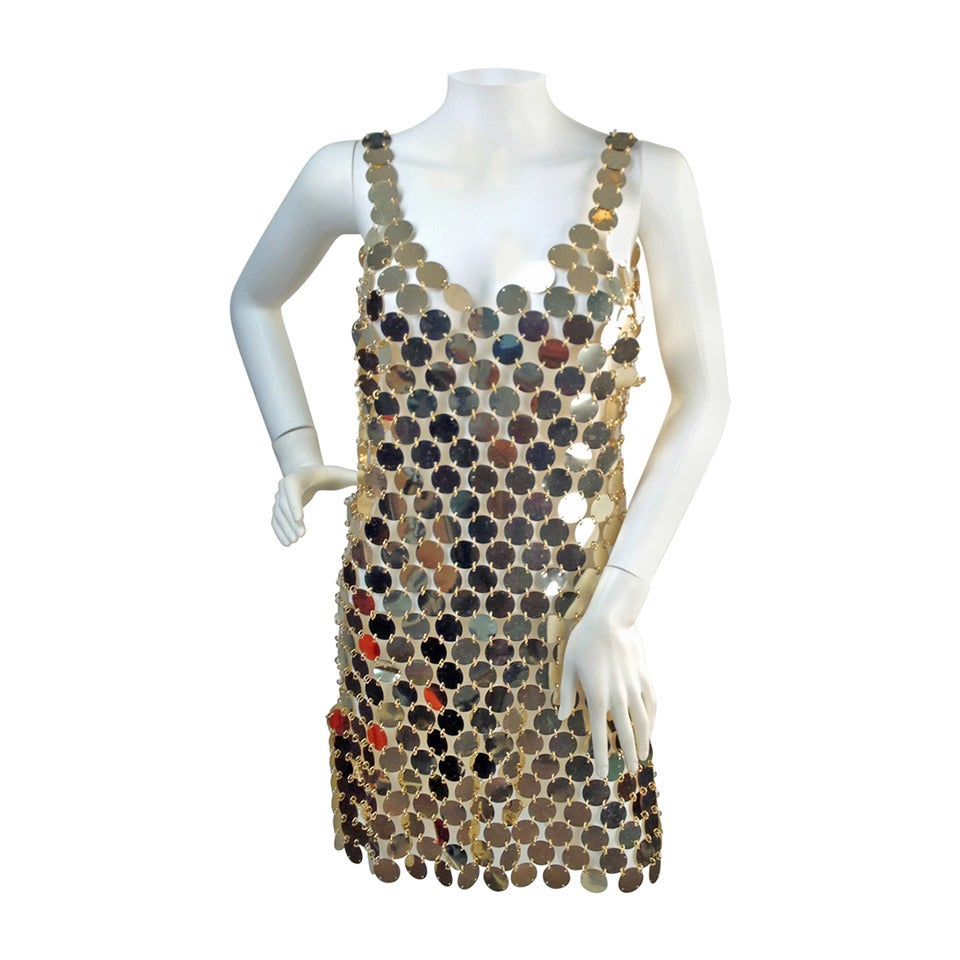 1990s PACO RABANNE Mod Plastic Disc Dress 1