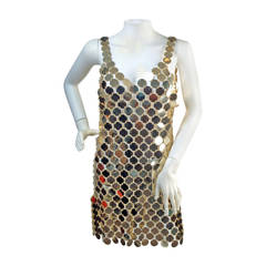 1990s PACO RABANNE Mod Plastic Disc Dress