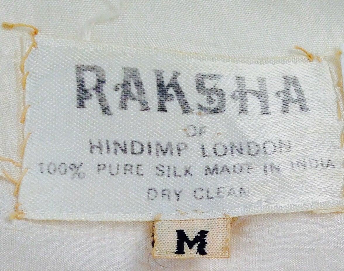 1970s Raksha Silk Kaftan 5
