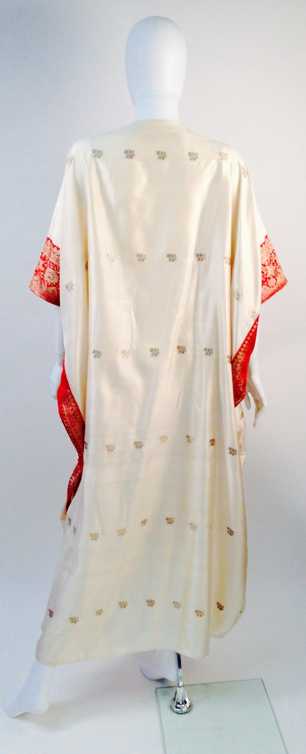 1970s Raksha Silk Kaftan 2