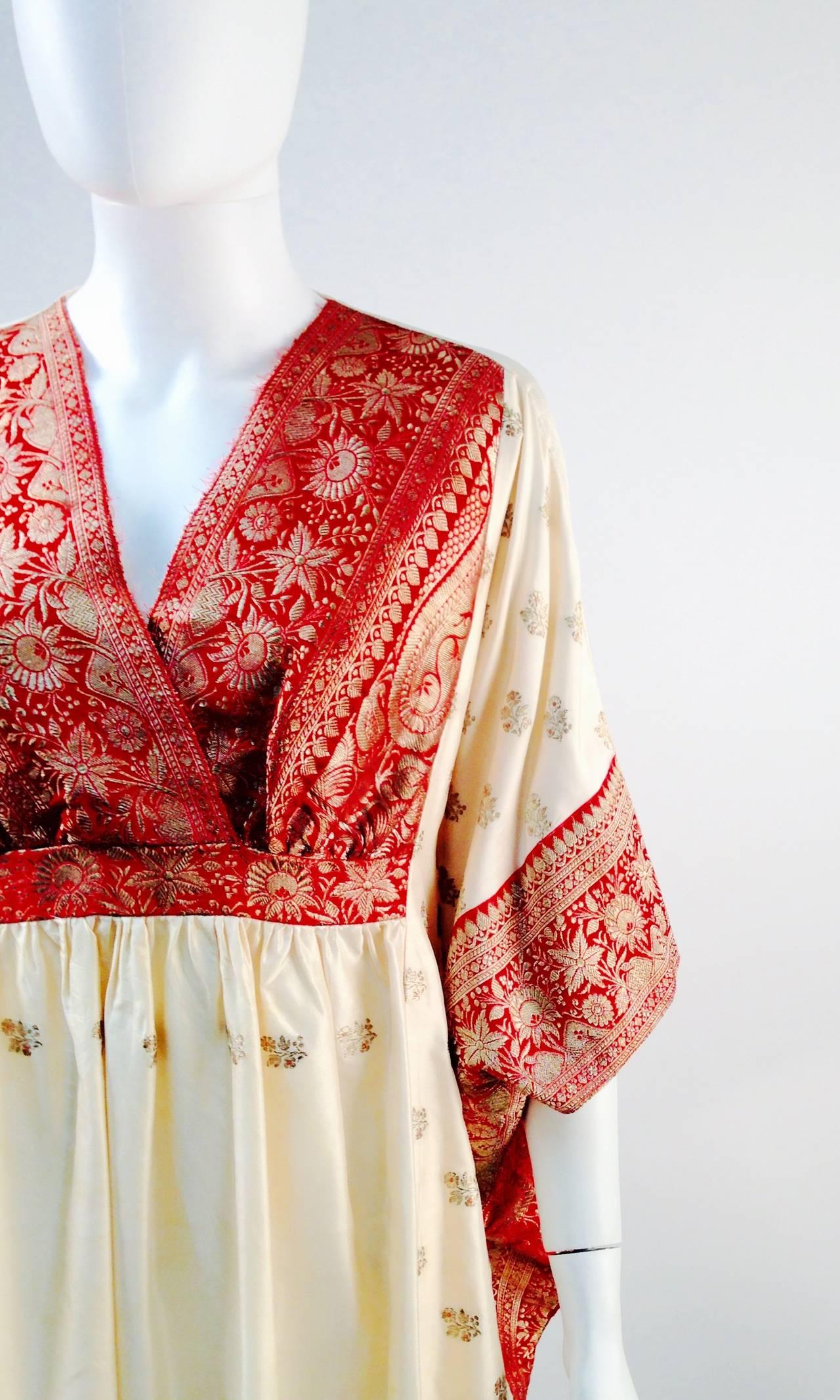 1970s Raksha Silk Kaftan 4