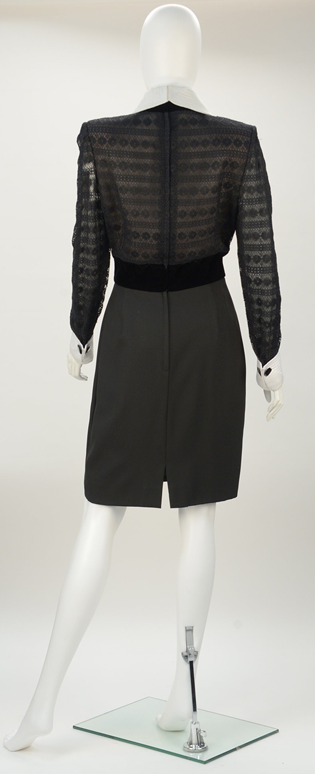 1980s Patricia Rhodes Black Dress In Excellent Condition For Sale In Houston, TX