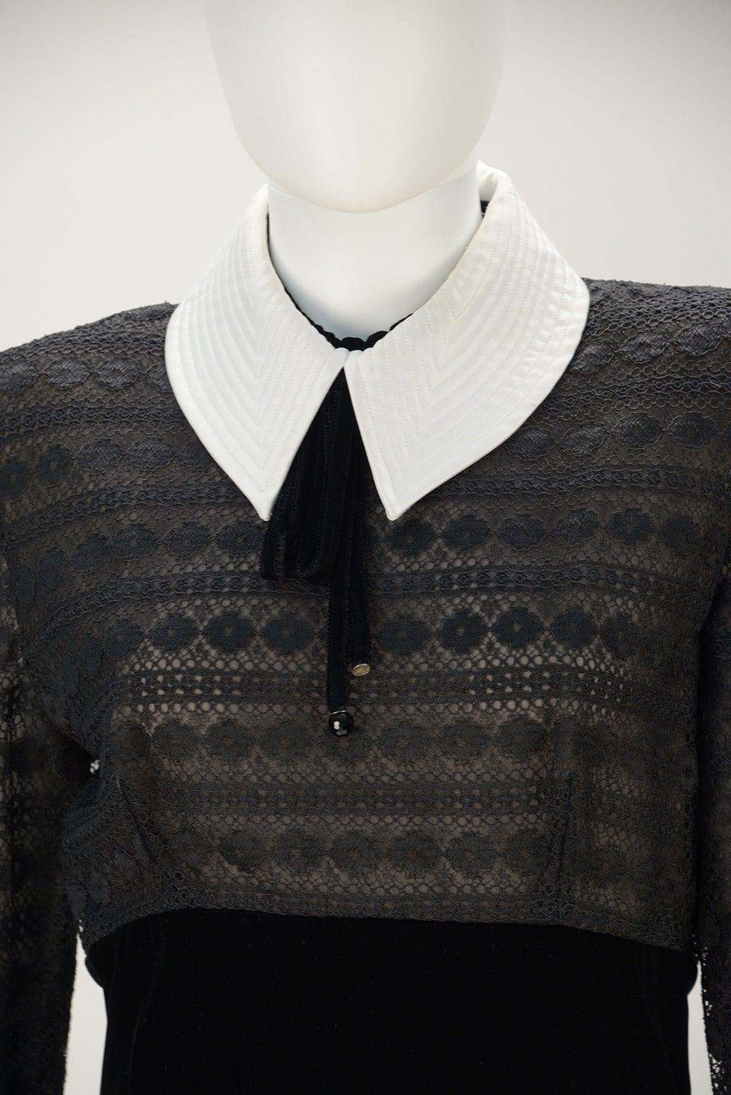 Women's 1980s Patricia Rhodes Black Dress For Sale