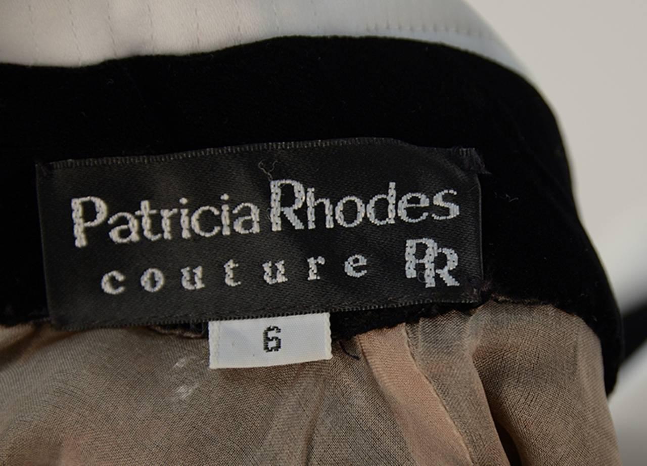 1980s Patricia Rhodes Black Dress For Sale 1