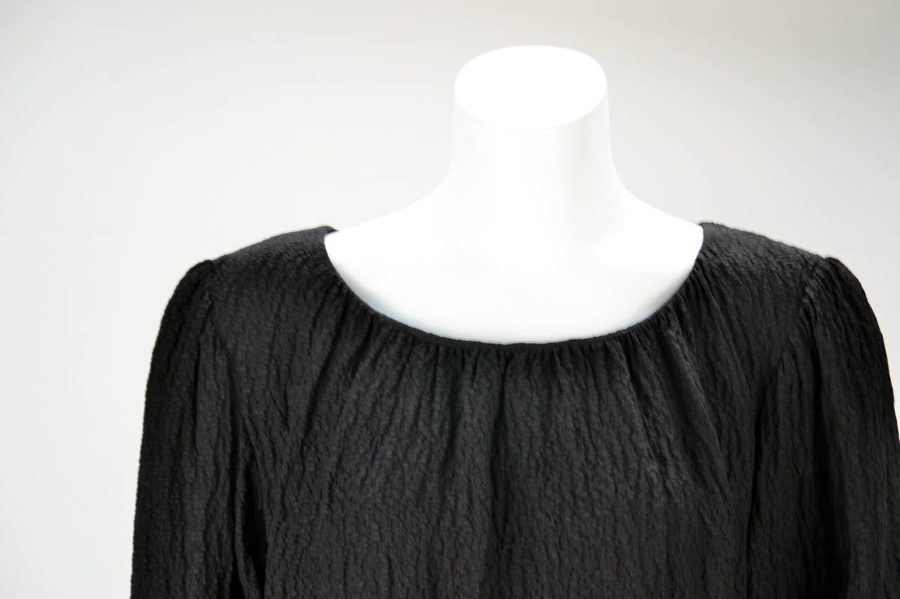 Women's 1970s Yves Saint Laurent Black Blouse For Sale