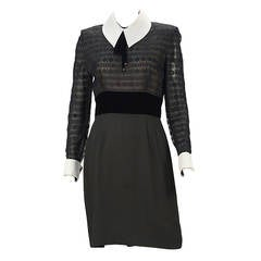 1980s Patricia Rhodes Black Dress