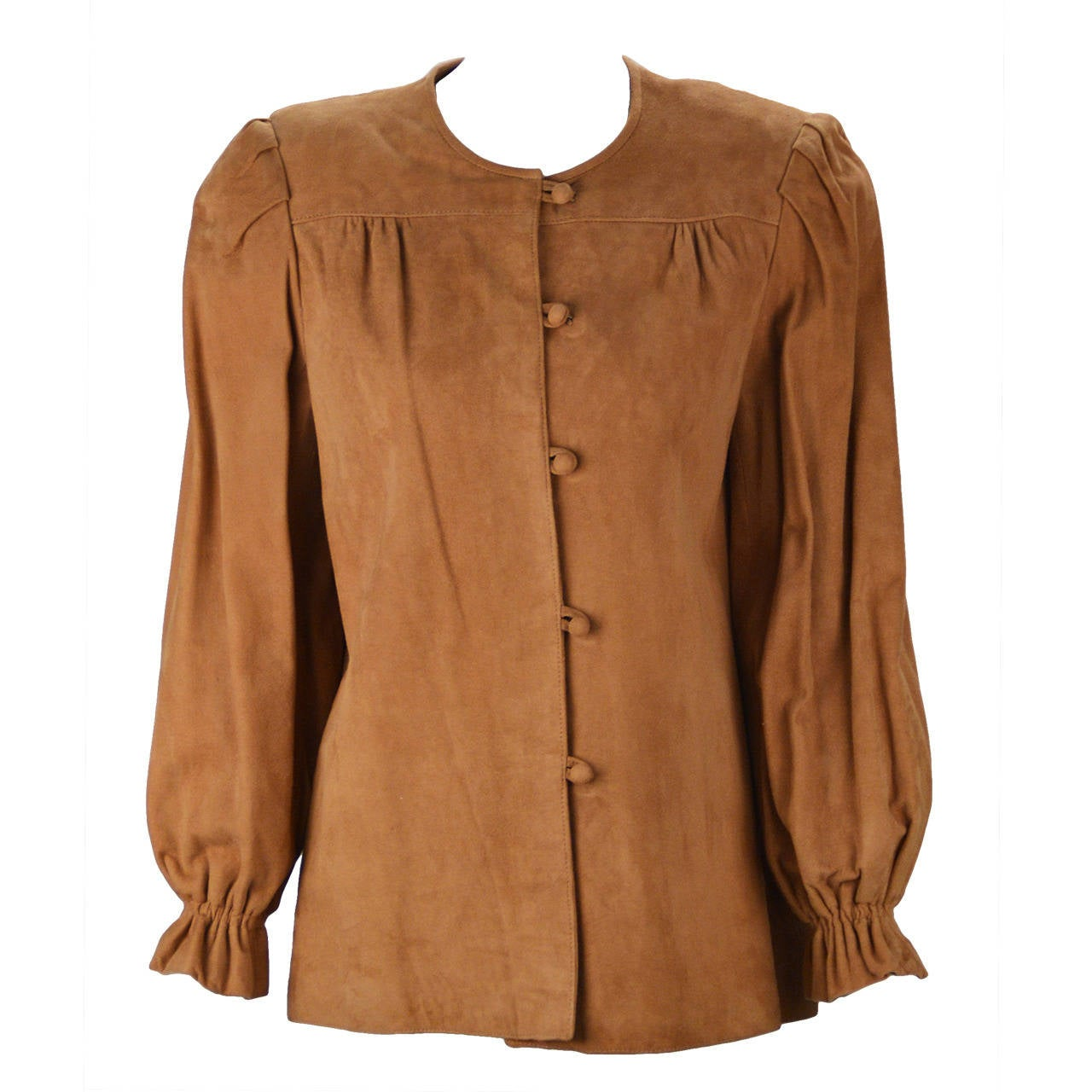 1980s Suede Fendi Shirt Jacket