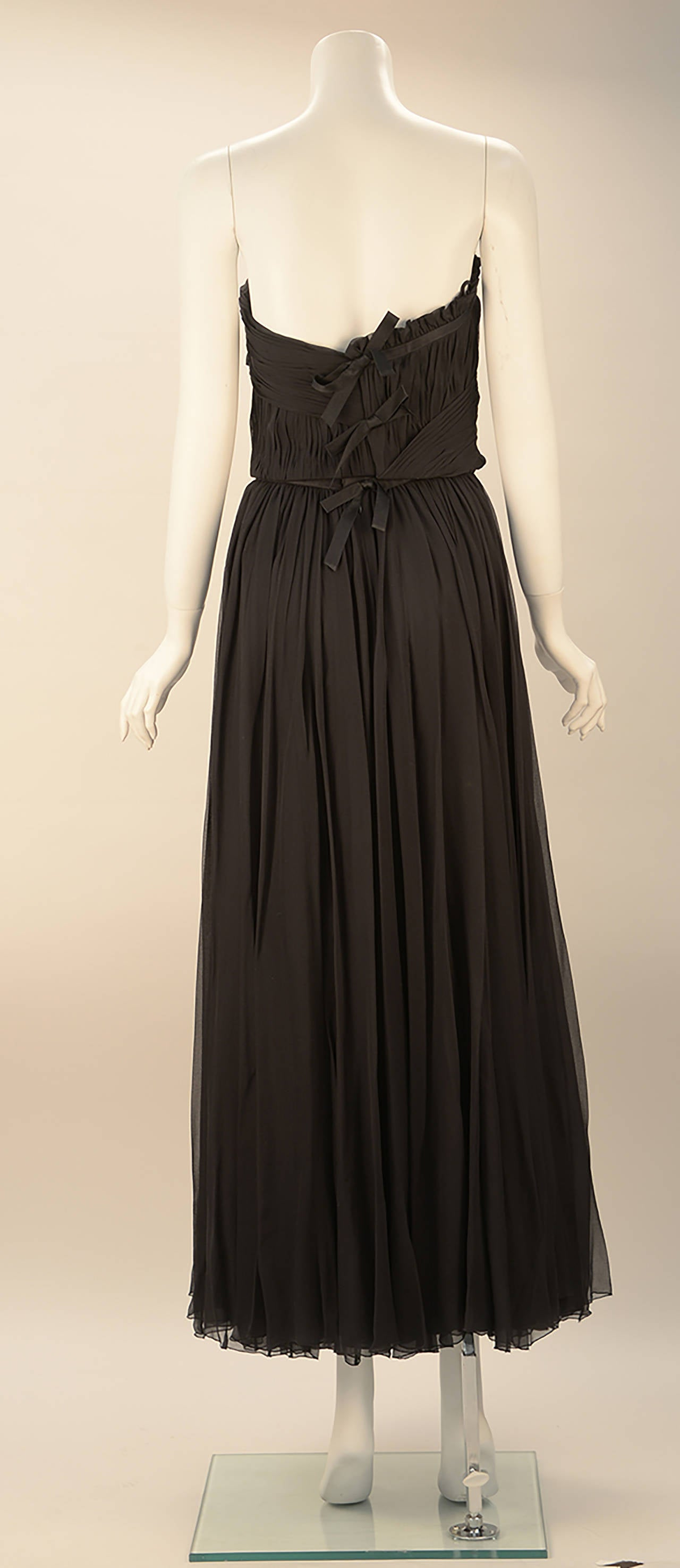 1980s Chanel Black Silk Ensemble In Excellent Condition For Sale In Houston, TX