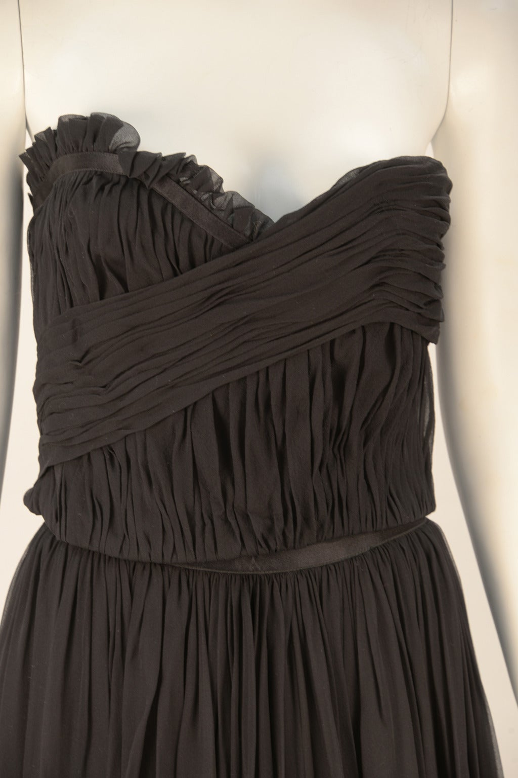 1980s Chanel Black Silk Ensemble For Sale 1