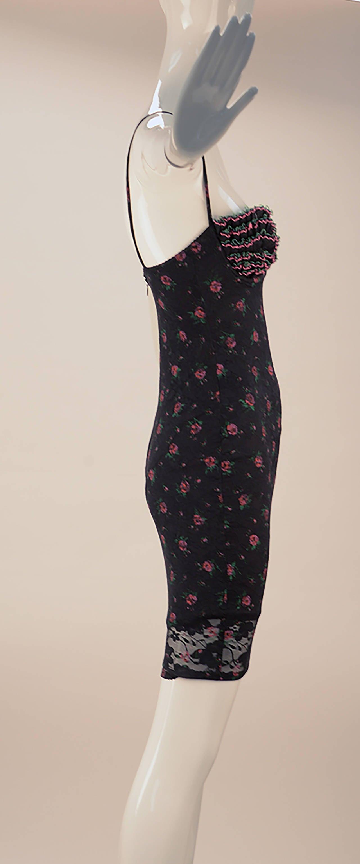 Yvan & Marzia Paris Floral Stretch Knit Dress 3