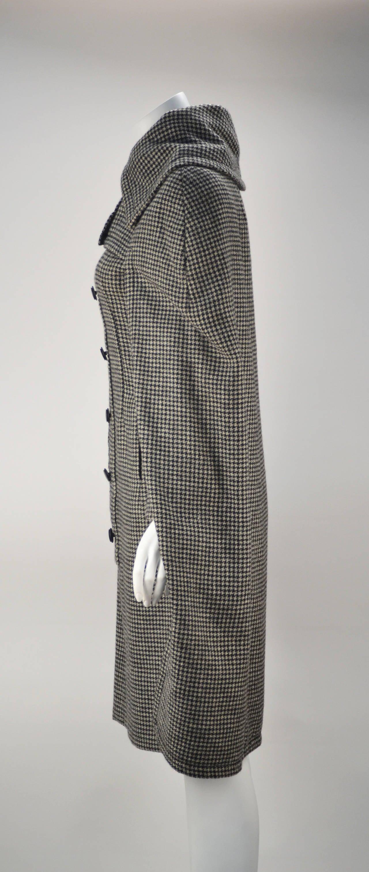 1950s Christian Dior Houndstooth Designer Cape and Dress Set 3