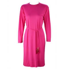 1960s Hot Pink Pucci Silk Knit Dress and Coppola e Toppo Belt