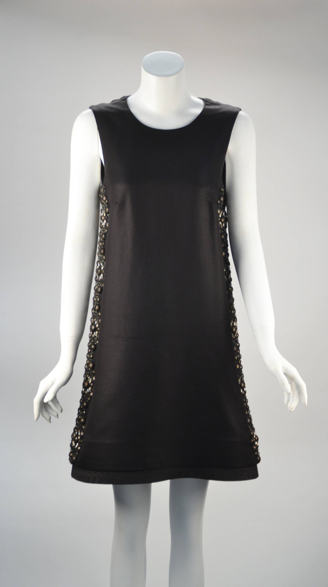 21st Century Black Studded Gucci Dress  For Sale 3