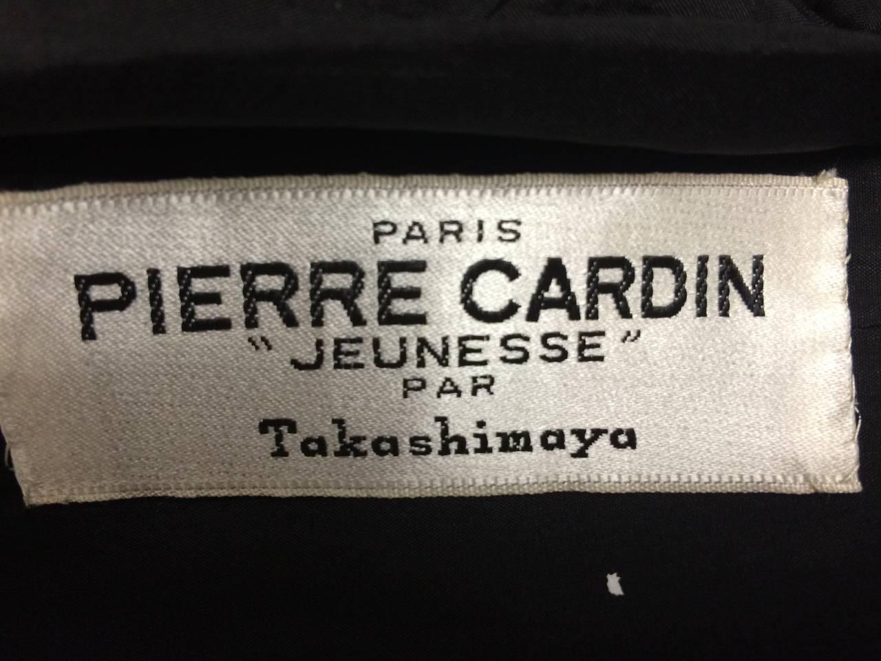 1960s Pierre Cardin Black Linen Dress for Takashimaya For Sale 2