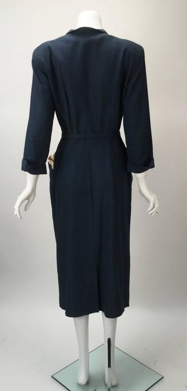 1940s Mar Tee Original Cadet Blue Dress  5