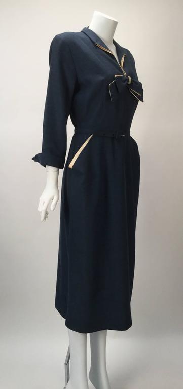 1940s Mar Tee Original Cadet Blue Dress  4