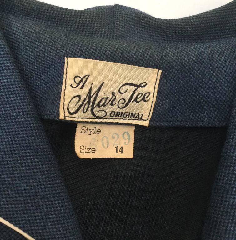 1940s Mar Tee Original Cadet Blue Dress  6