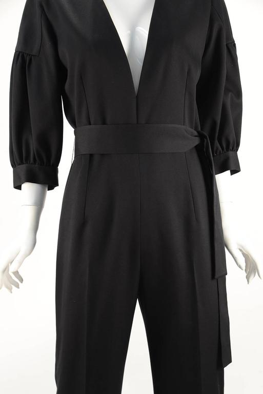 NWT 2014 Yves Saint Laurent Black Jumpsuit  4