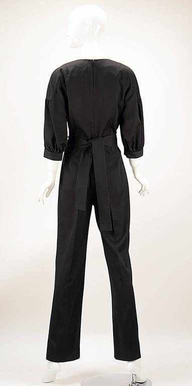 NWT 2014 Yves Saint Laurent Black Jumpsuit  3