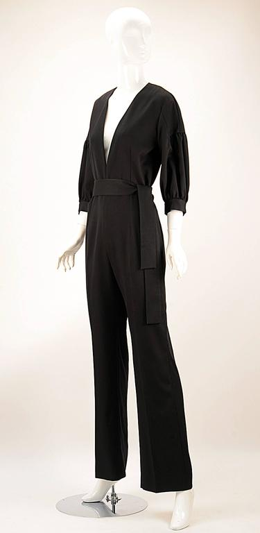 NWT 2014 Yves Saint Laurent Black Jumpsuit  2