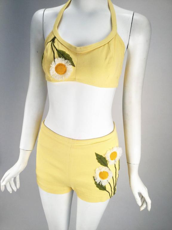 Pale yellow bikini