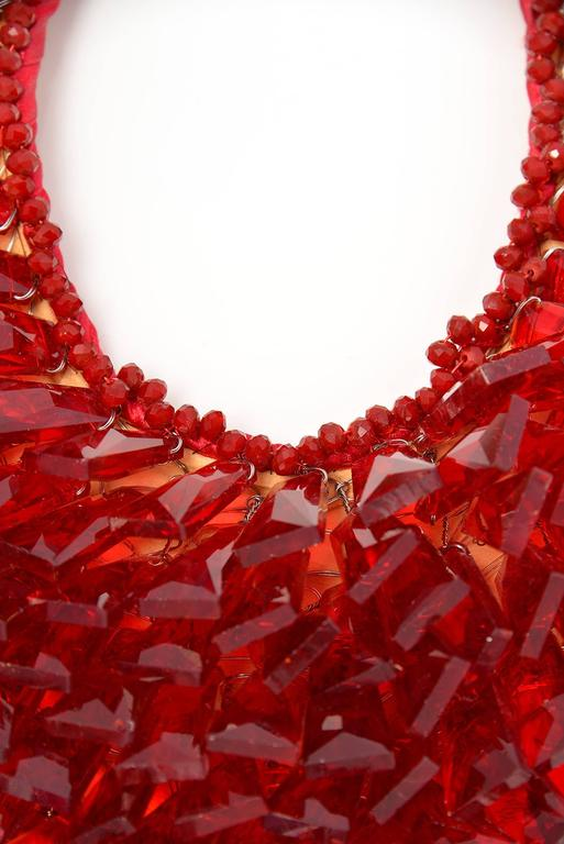 Vilaiwan Ruby Red Crystal Glass Faceted Necklace 3