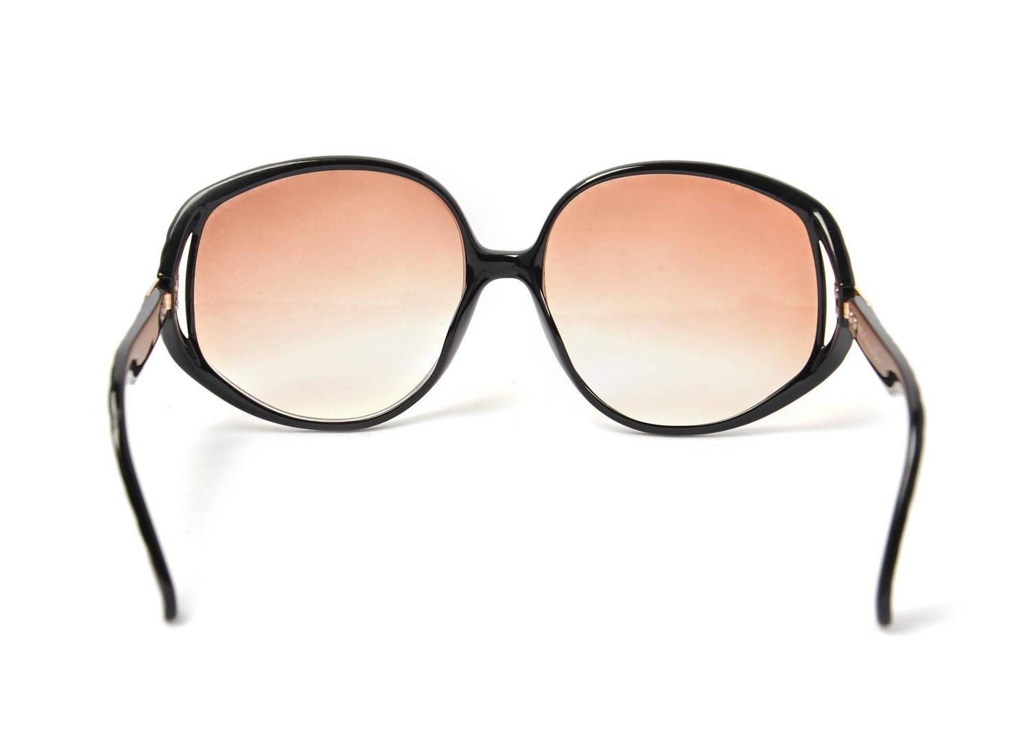 Dior Glasses Frame 2014 : 1980s Christian Dior Black Logo Sunglasses Frames Germany ...