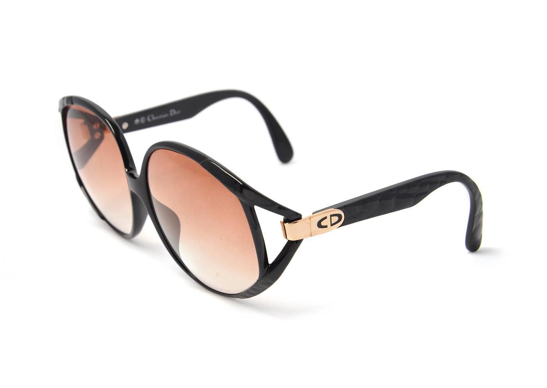 Dior Black Frame Glasses : 1980s Christian Dior Black Logo Sunglasses Frames Germany ...