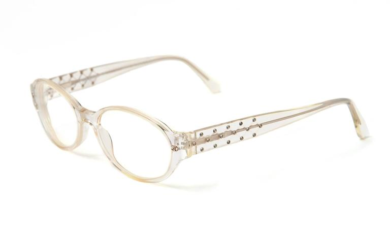 Vintage Chanel Italian Rhinestone Eyeglasse Frames For Sale at 1stdibs