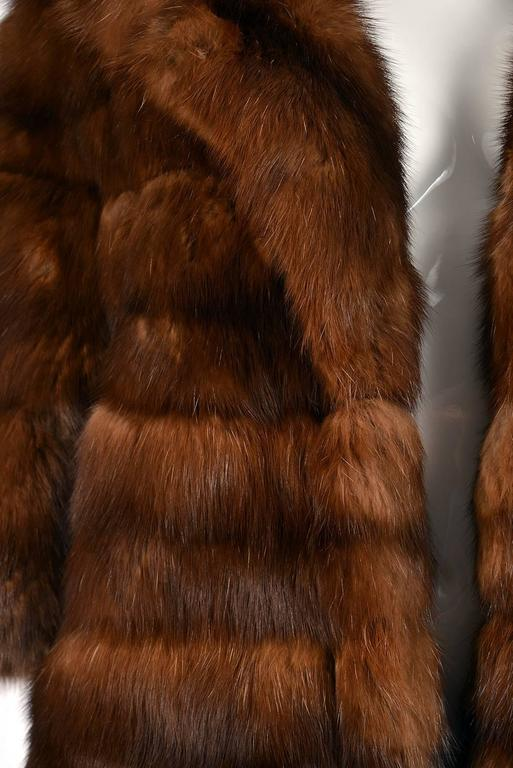 1950s Maximillian Horizontally Striped Mink Coat In Good Condition For Sale In Houston, TX
