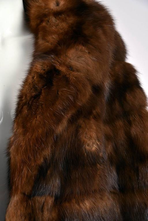 Women's 1950s Maximillian Horizontally Striped Mink Coat For Sale