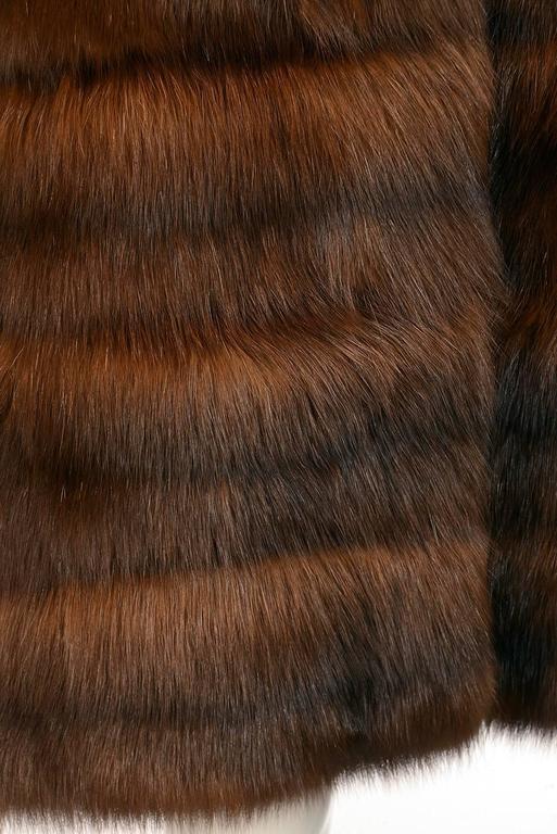 1950s Maximillian Horizontally Striped Mink Coat For Sale 1